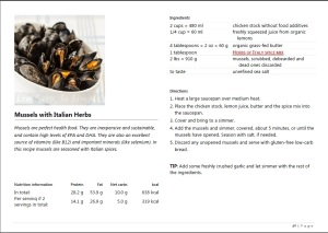 Sneak Peek from Mussels with Italian Herbs from the Easy Everyday Recipes Book